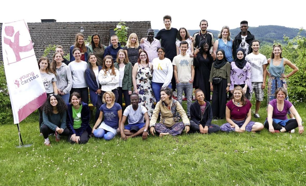 Die Teilnehmer des europäischen Jugend...bstversorgerhaus Sonnhalde in Kappel    | Foto: Silas Schwab
