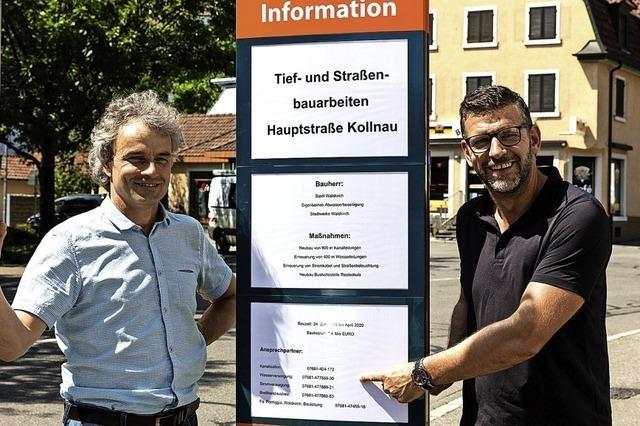 Kanalneubau mit zeitweisen Straßensperrungen in Kollnau startet