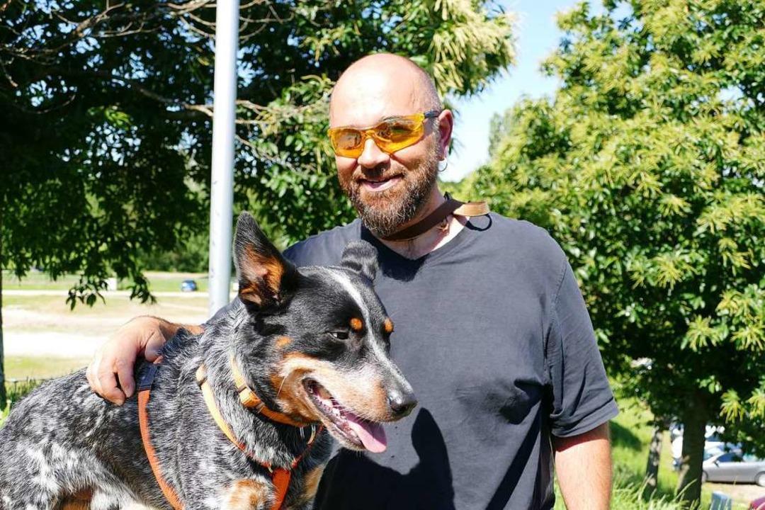 Suchhund Ferris mit Herrchen Claudio Cristiano  | Foto: privat