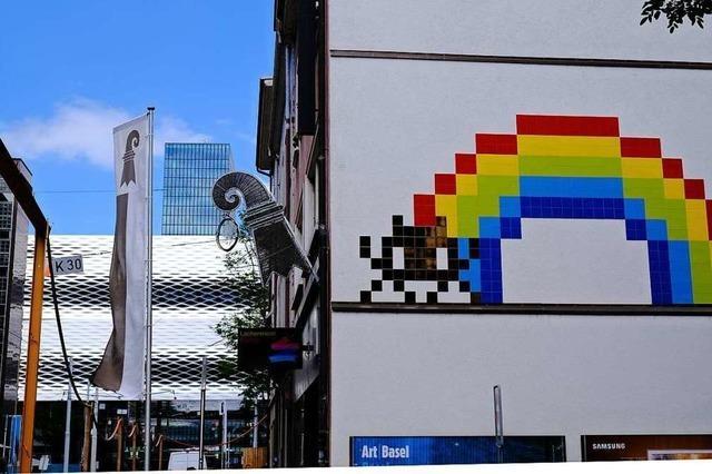 Bei der Art Basel gab's einen Shuttle-Bus zu den Werken von Streetart-Stars