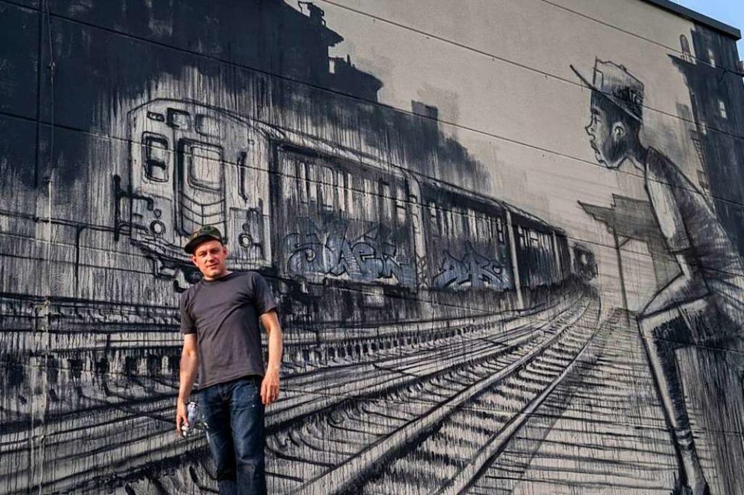 Streetart an der Colab Gallery in Weil am Rhein. Bemalung von SWET und CMP ONE.  | Foto: Daniel Bossart