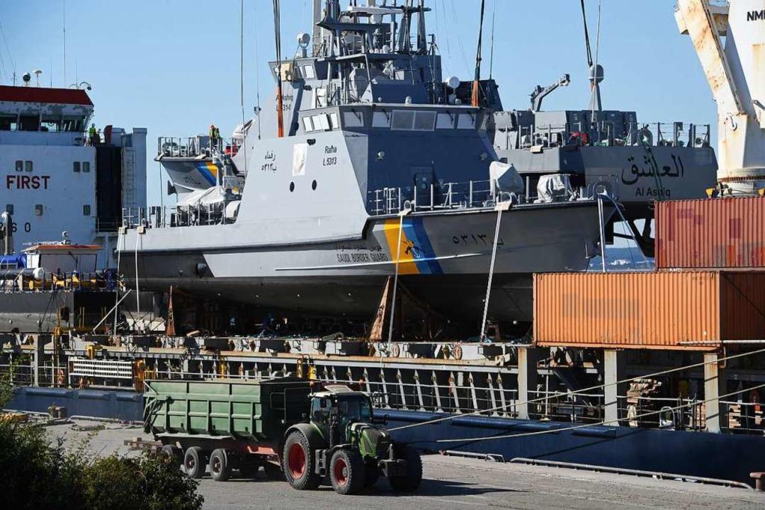 2018 wurden Militärschiffe für Saudi-Arabien exportiert.  | Foto: Stefan Sauer (dpa)