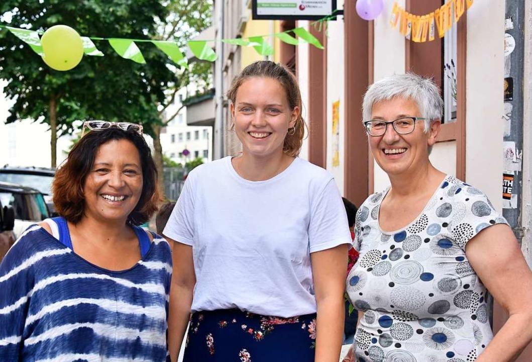 Maria Del Pilar Torres, Hanna Rau und ...ine offene und tolerante Gesellschaft.  | Foto: Michael Bamberger