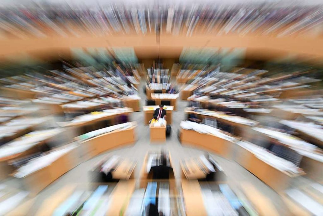 Im Keller des Stuttgarter Landtages be...Parlamentarische Kontrollgremium tagt.  | Foto: Marijan Murat