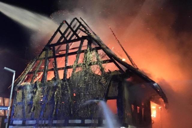 In Herbolzheim stand schon wieder eine Scheune in Flammen
