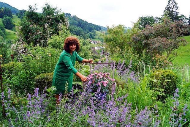 Jutta Schneider hat ein Malsburg-Marzell ihr eigenes Paradies geschaffen