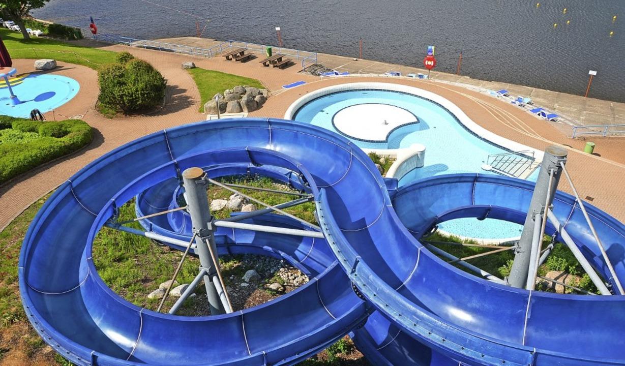 Die 105 Meter lange Rutsche und der di...ugang machen  das Aqua Fun attraktiv.   | Foto: Christiane Sahli