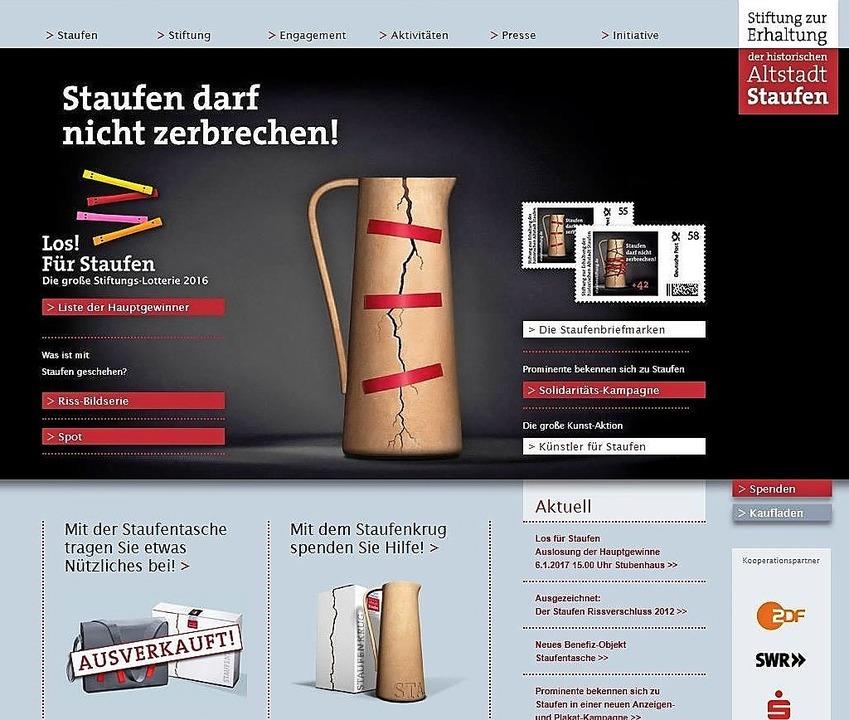 Die Startseite des Internet-Auftritts der  Staufen-Stiftung  | Foto: Hans-Peter Müller