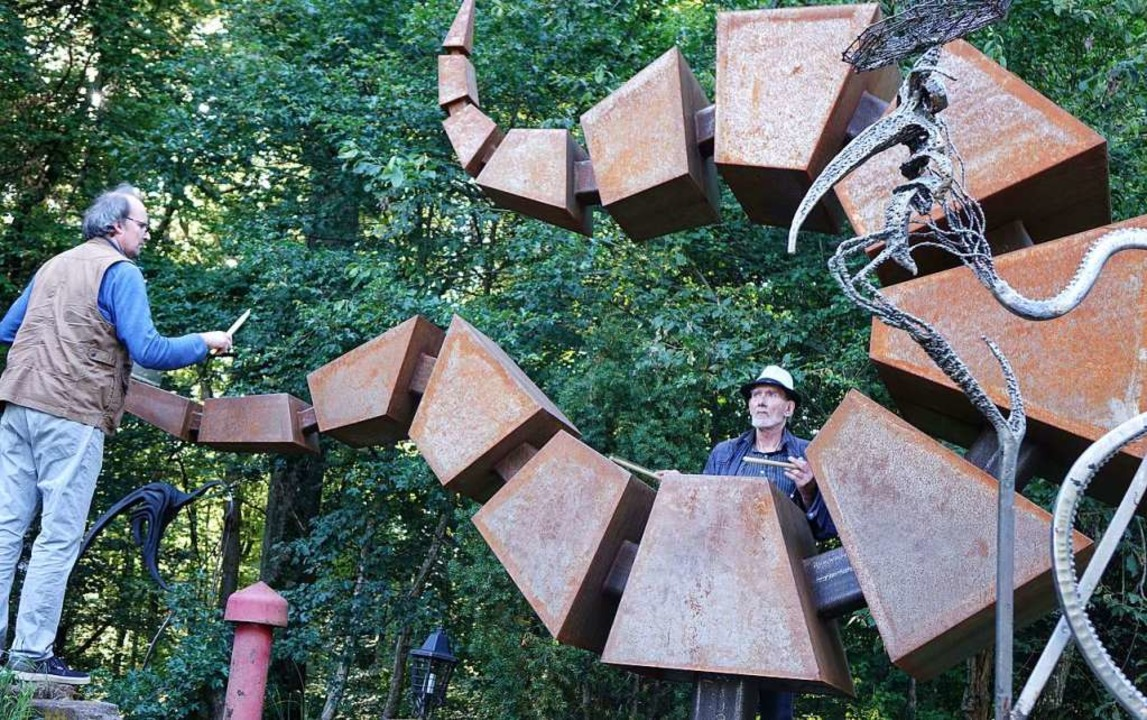 Performance auf dem Skulptophon    Foto: Roswitha Frey