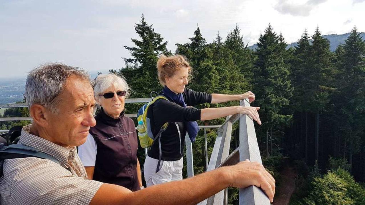 Der Lohn für den vergossenen Schweiß: ...tsturm auf dem Hohen Horn in Offenburg  | Foto: Karl Kovacs