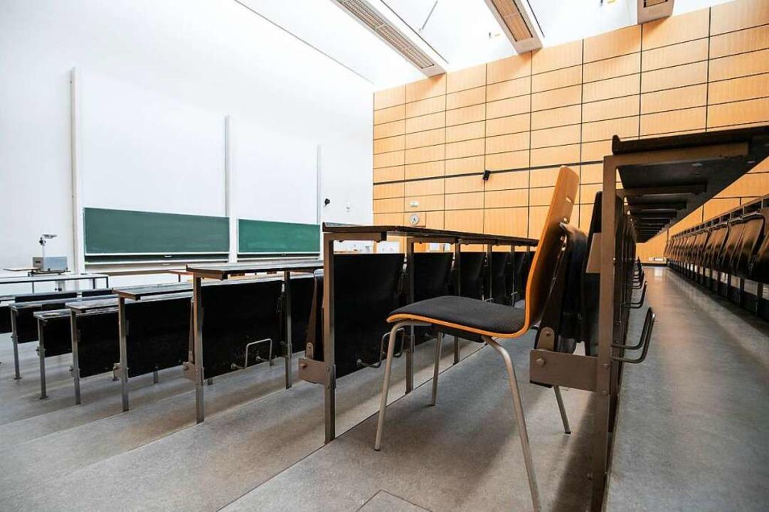 Im Juni 1969 blieben die Hörsäle am Po...ität für eine Woche leer (Symbolbild).  | Foto: Daniel Karmann (dpa)