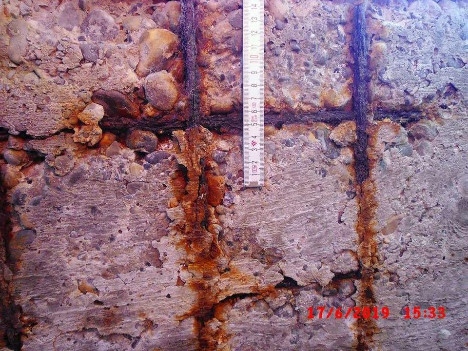 Korrosionsschäden am Steg  | Foto: Stadtbauamt Staufen