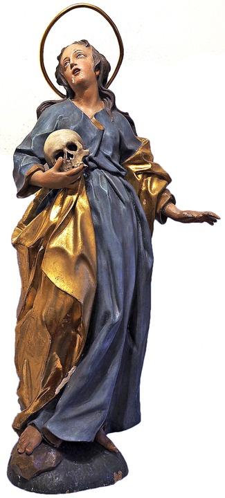 Exponat im Klostermuseum: Die Heilige ...agdalena, die um 1737 entstanden ist.     Foto: Susanne Gilg