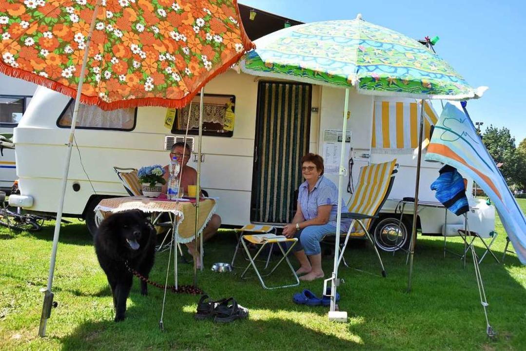 60 historische Camping-Mobile werden b...Oldi-Club in Denzlingen zu sehen sein.  | Foto: Andrea Steinhart