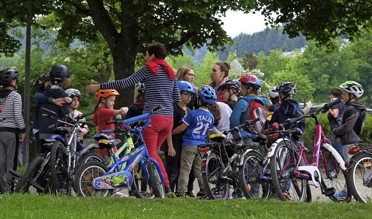 Großer Fahrradaktionstag an der Grundschule am Kohlenbach.  | Foto: Schule