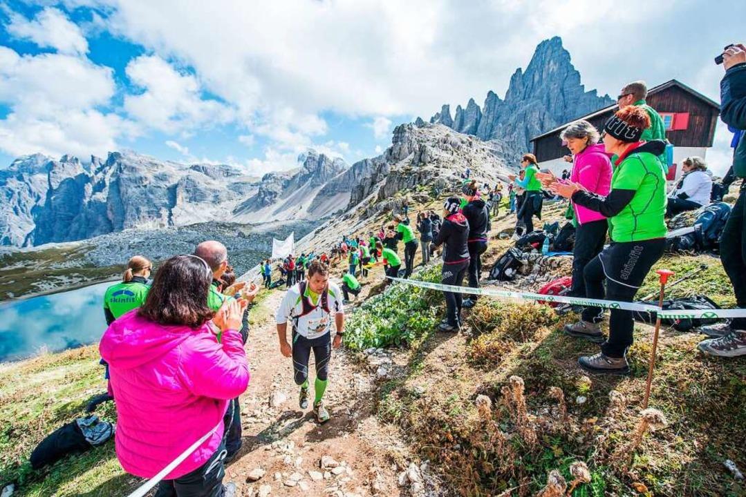 Das Szenario des Drei-Zinnen-Laufs in ...dort im September an den Start gehen.   | Foto: wisthaler.com/dpa