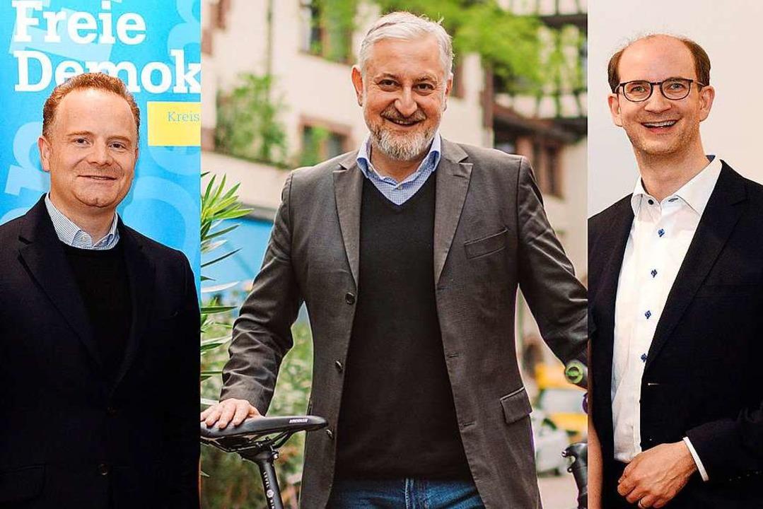 Christoph Glück (FDP), Franco Orlando ... Gemeinderat zusammen Fraktionsstärke.  | Foto: Thomas Kunz, Franco Orlando (Montagebild)