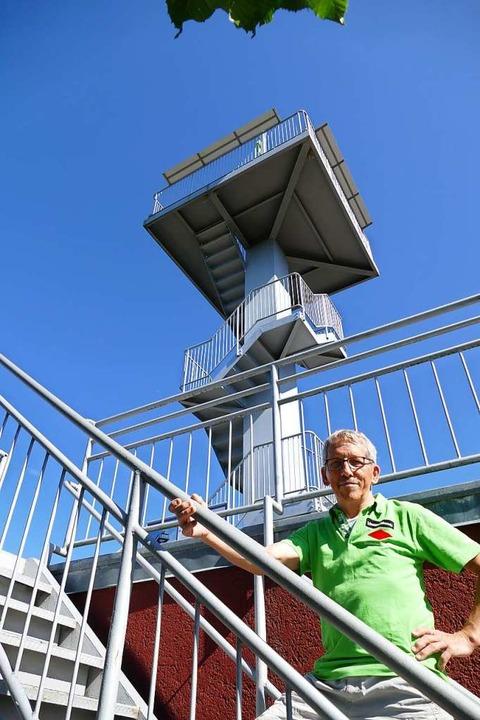 Christian Wacker auf dem Weg nach oben  | Foto: Klaus Fischer
