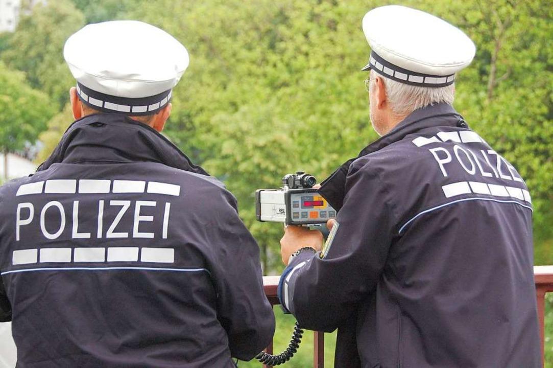 Die Verkehrspolizei erfasste Tempoverstöße in Lörrach (Symbolbild).  | Foto: Hannes Lauber