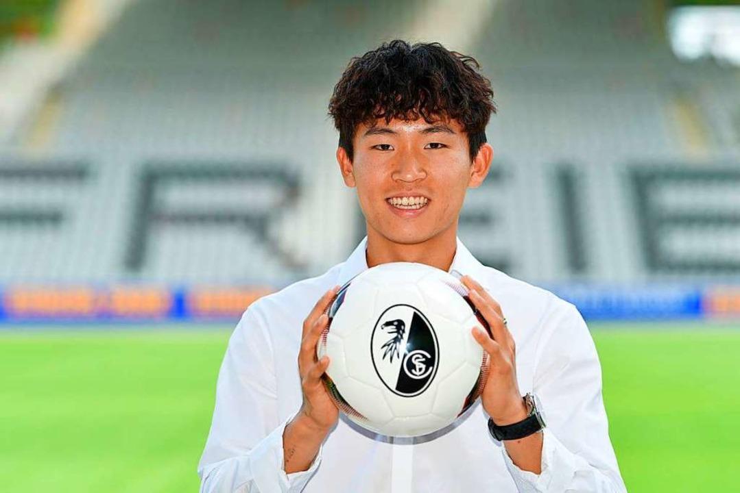 Woo-Yeong Jeong im Schwarzwaldstadion  | Foto: Achim Keller / SCF