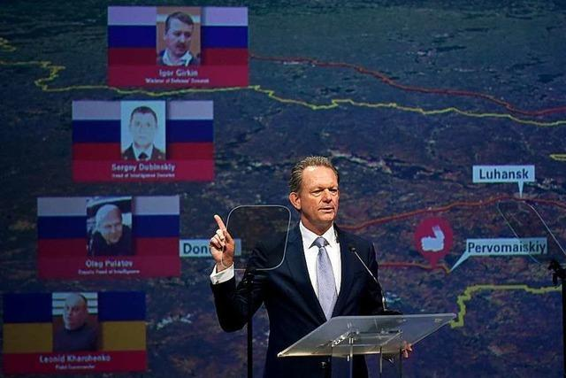 Ermittler machen vier Verdächtige für MH17-Abschuss verantwortlich