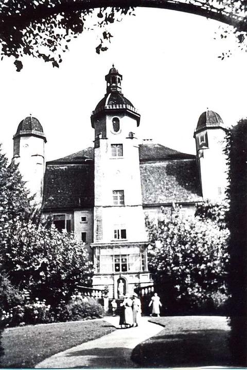 Dieses Foto zeigt das Trompeterschloss in der Zeit um 1919.  | Foto: Stadtarchiv Bad Säckingen