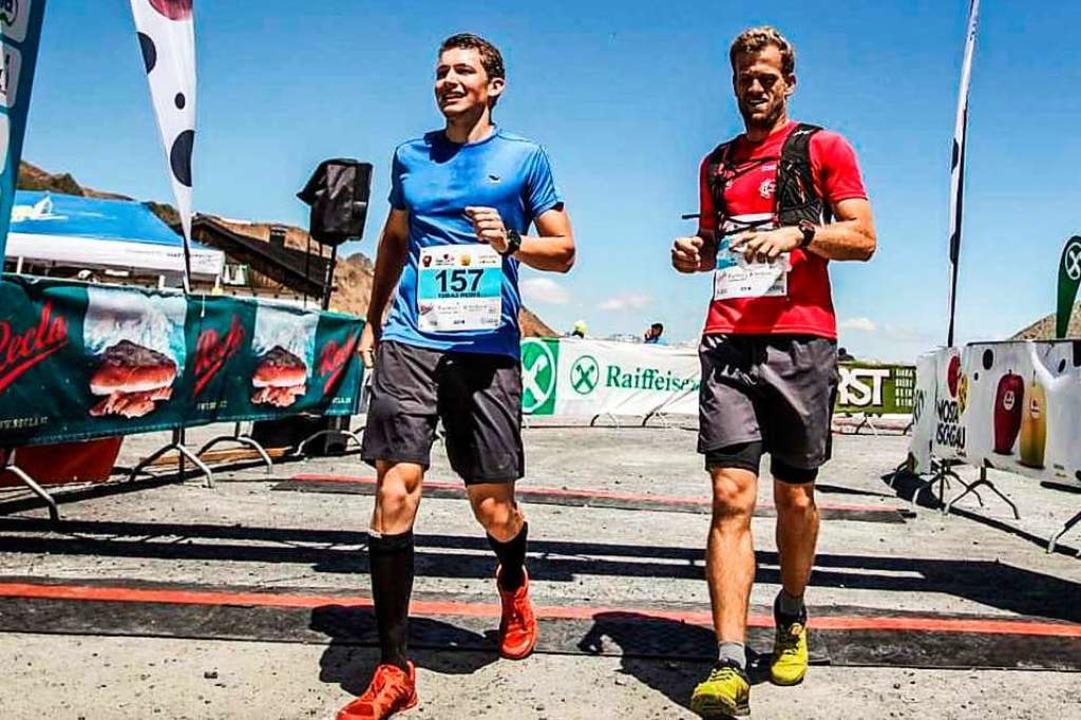 Laufen für einen guten Zweck:  Thomas Spicker (rechts) und Tobias Weber  | Foto: SPORTOGRAF
