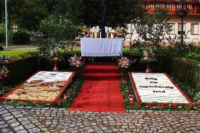 Blumenteppiche in Glottertal und Gundelfingen