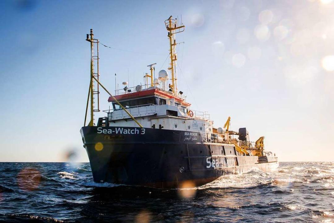 Ein Ende 2018 zur Verfügung gestelltes...f Sea-Watch 3 vor der libyschen Küste.    Foto: Chris Grodotzki , Jib Collective