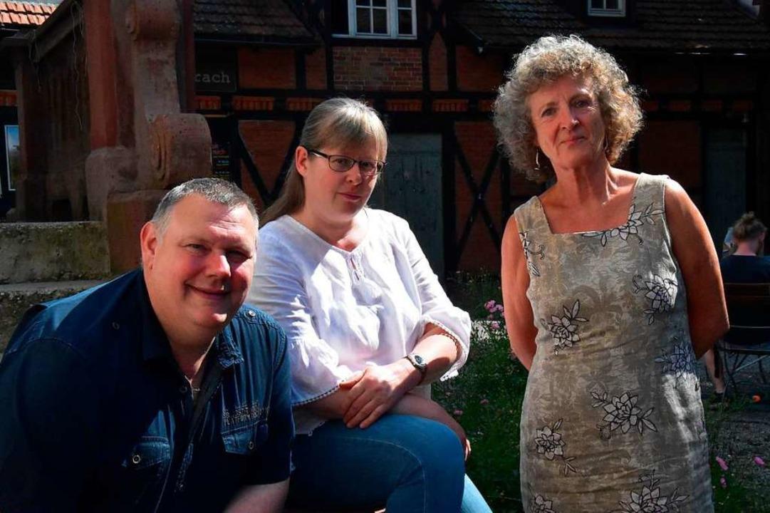 Michael Hiob, Daniela Kufner und Iris ...Menschen mit psychischen Erkrankungen.  | Foto: Kathrin Ganter