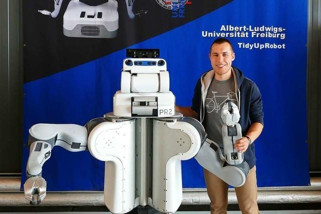 Freiburger Student Philipp Jund hat sein Masterprojekt bei der Robotikschau in Brisbane gezeigt
