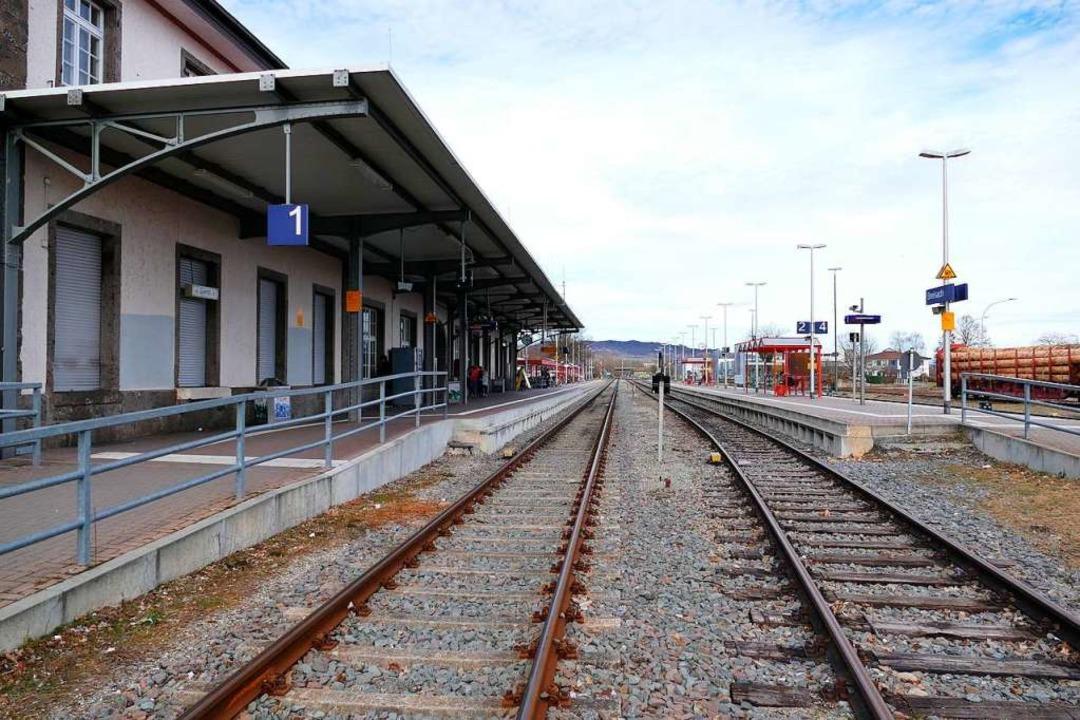 Bald sieht es am Breisacher Bahnhof so leer aus.  | Foto: Saskia Rohleder