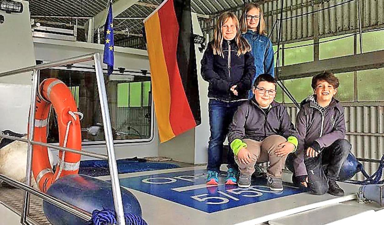 Auf dem Foto sind die vier  Zisch-Repo... dem sie ein Stück mitfahren durften.   | Foto: privat