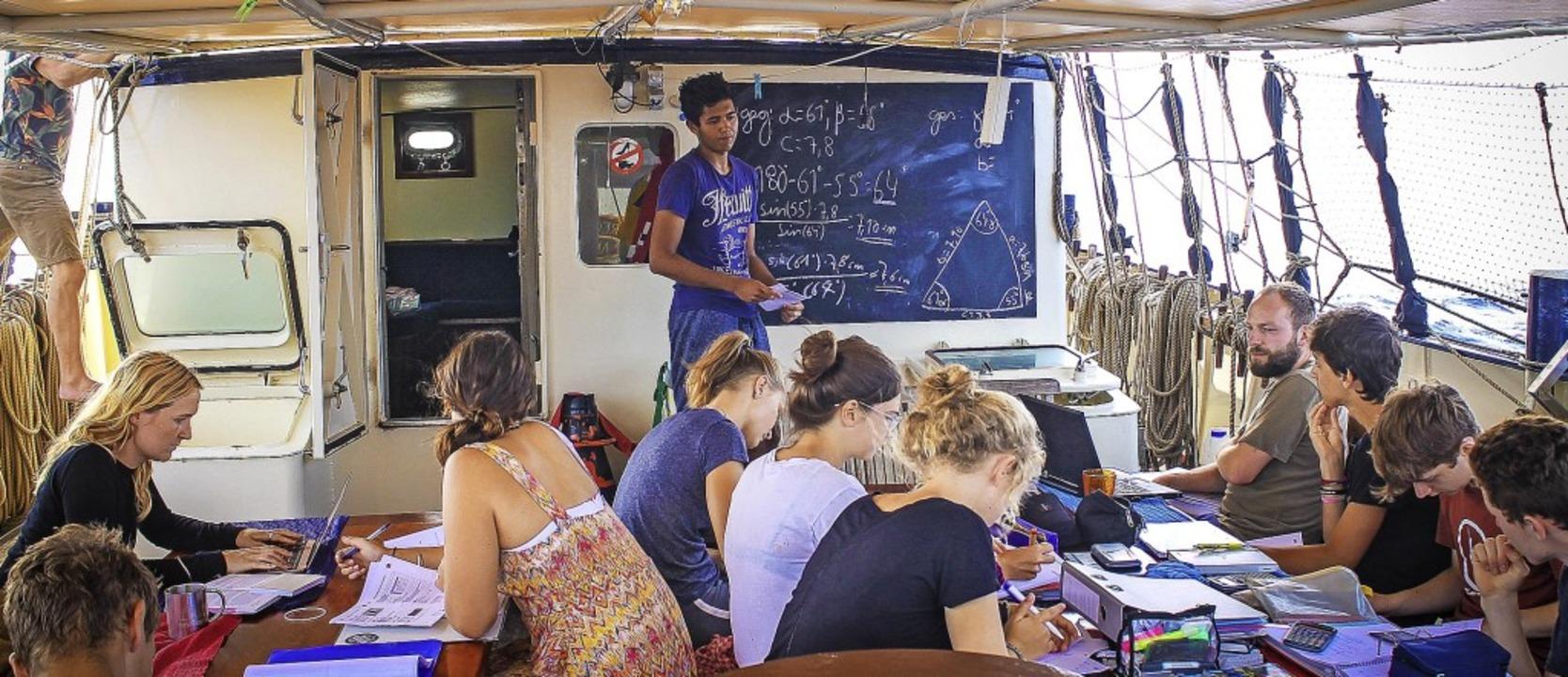 Mit dem  Segler  auf dem Ozean: 11000 ...en hat Nele Haarmann so zurückgelegt.   | Foto:  Ocean College