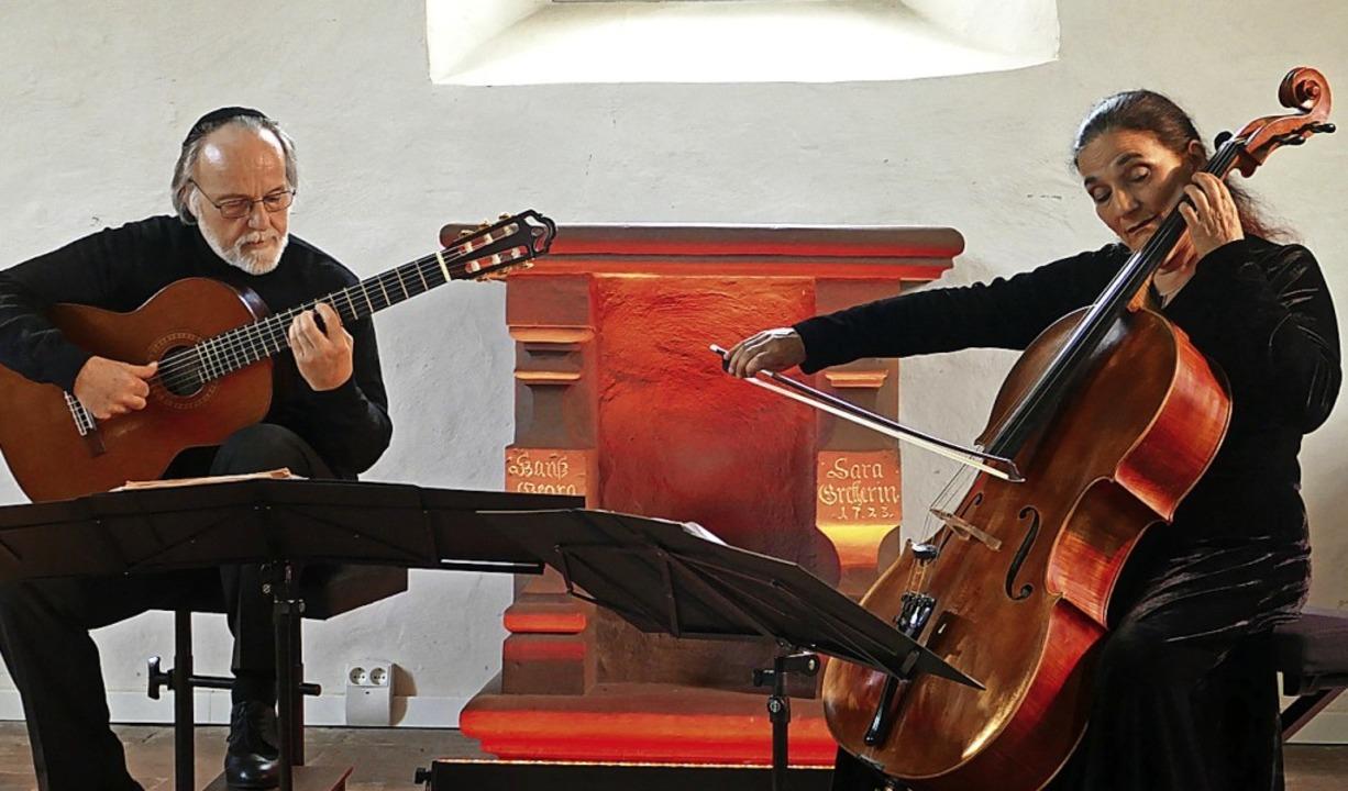Ariana Burstein und Roberto Legnani ze...ose Verbindung von Cello und Gitarre.   | Foto: Martina David-Wenk