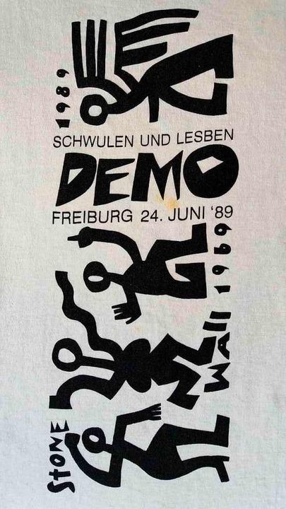 Das Logo des ersten CSDs in Freiburg im Jahr 1989  | Foto: Matthias Fünfgeld