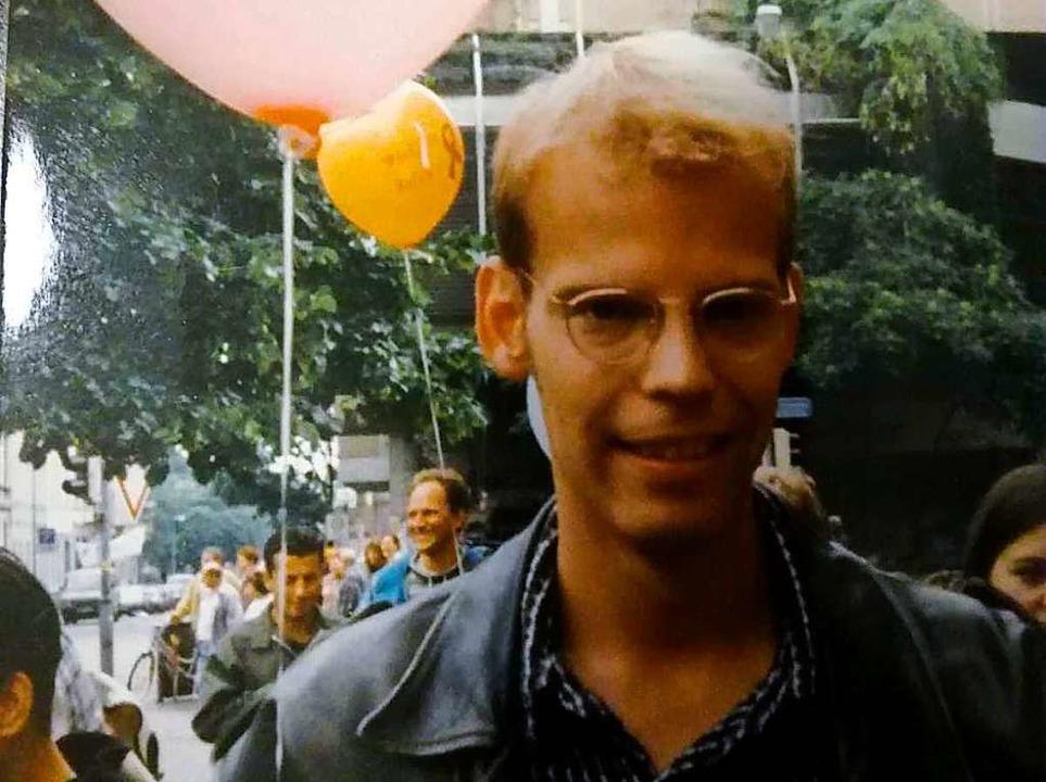 Robert Sandermann beim CSD 1996.  | Foto: Robert Sandermann