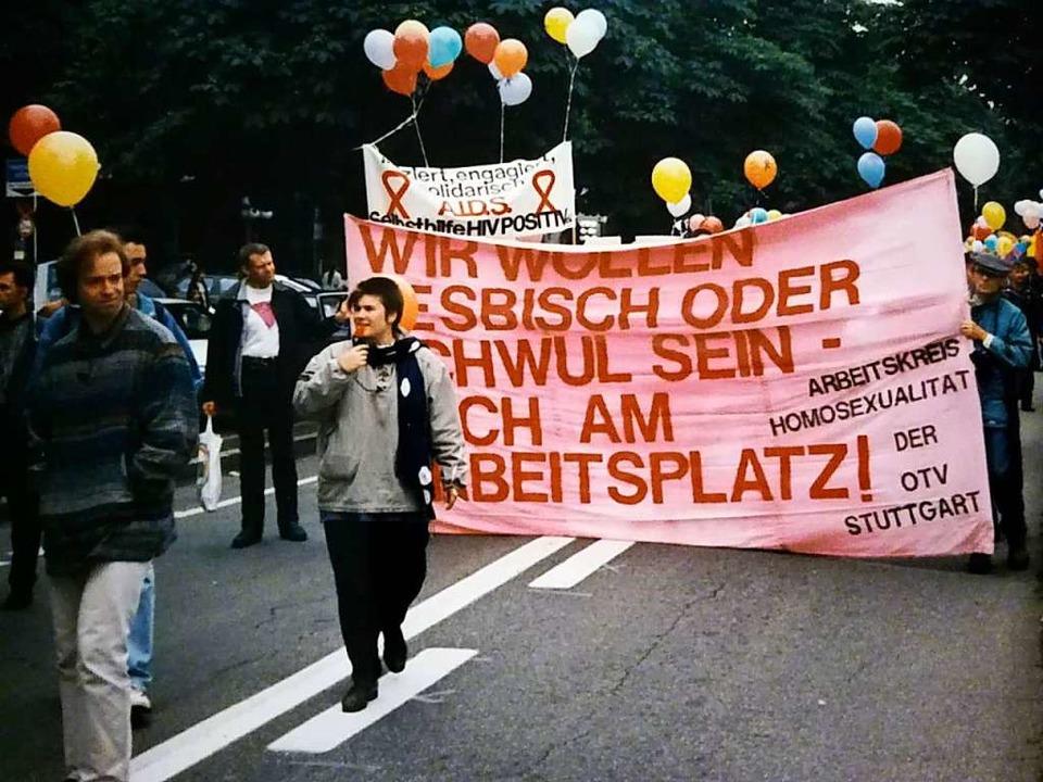 Impressionen vom zweiter Christopher-Street-Day in Freiburg  | Foto: Robert Sandermann