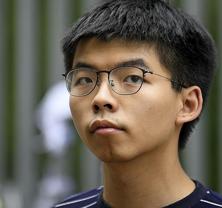 Joshua Wong kämpft für Demokratie in Hongkong    Foto: ANTHONY WALLACE (AFP)