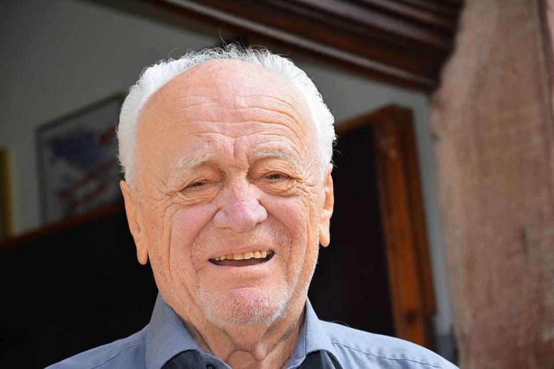 Manfred Wampfler wird 90 Jahre alt.  | Foto: Hannes Lauber