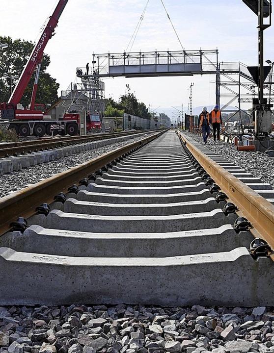Der Ausbau der Rheintalbahn schreitet voran.  | Foto: Uli Deck