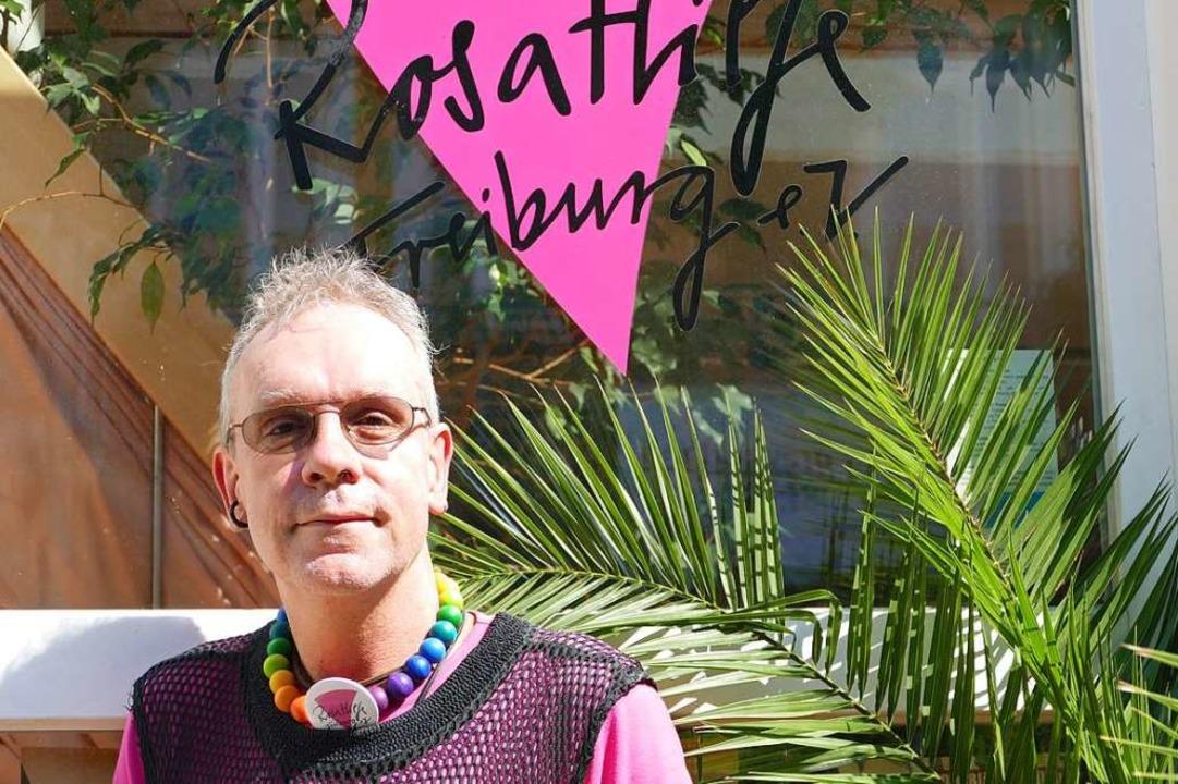 Dirk Heudorf ist Aktivist, Co-Organist...seit Jahrzehnten im Verein Rosa Hilfe.  | Foto: Dominik Bloedner