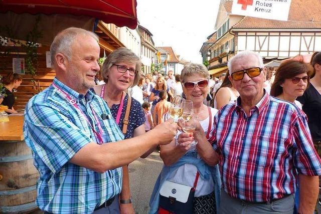 Mehrere zehntausend Besucher kamen zu den Ihringer Weintagen