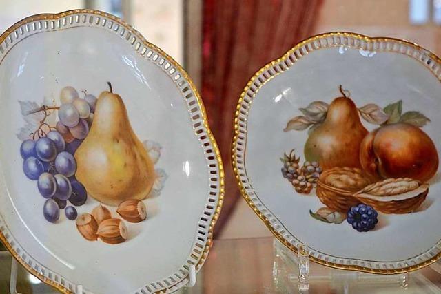 Das Museum in Schopfheim zeigt Porzellan, das mit Naturmotiven verziert ist