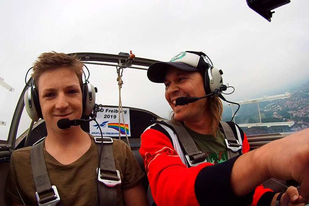 Christoph Maschowski (rechts) ist der ...rseglers. Neben ihm sitz Odhin Ehlers.  | Foto: Christoph Maschowski