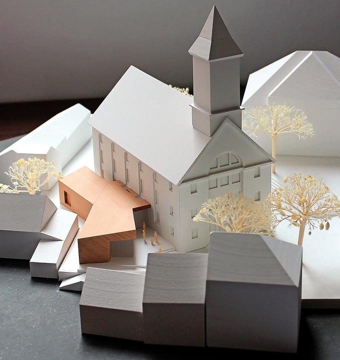 Die evangelische Kirche Kandern bekomm...ll aus dem Architektenwettbewerb 2018.  | Foto: Reinhard Cremer