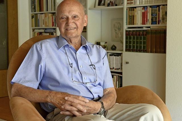 Der 91-jährige Wolfgang Kreis hat beim Wiederaufbaubüro der Uni gearbeitet