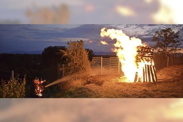 Die Flammen loderten ein wenig zu heftig
