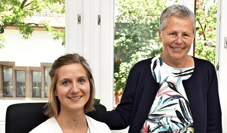 Lina Gerigk (links) und Ursula Lemmertz   | Foto: Thomas Biniossek