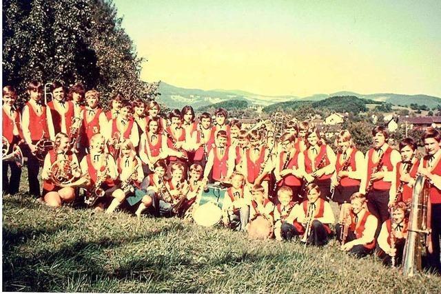 Mit ihrer Jugendkapelle war die Stadtmusik Schopfheim vor 50 Jahren Vorreiter